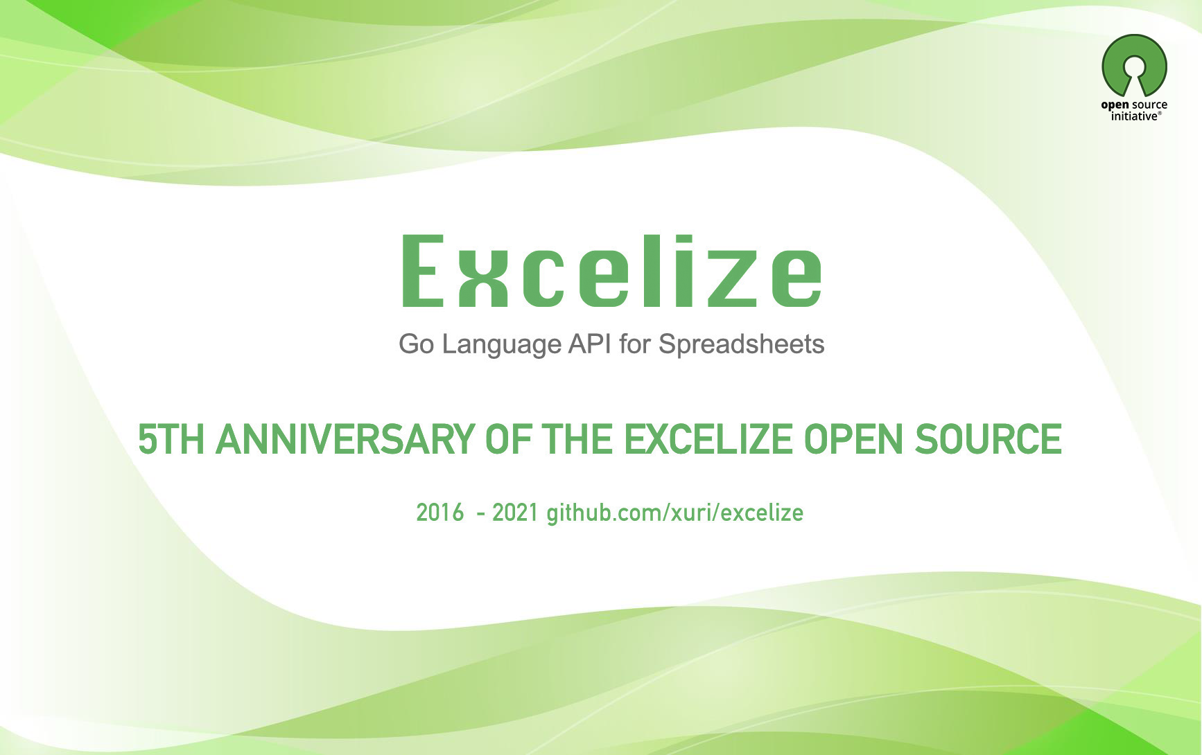 Excelize 开源五周年